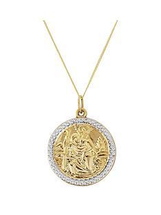 love-gold-mens-9ct-gold-saint-christopher-pendant
