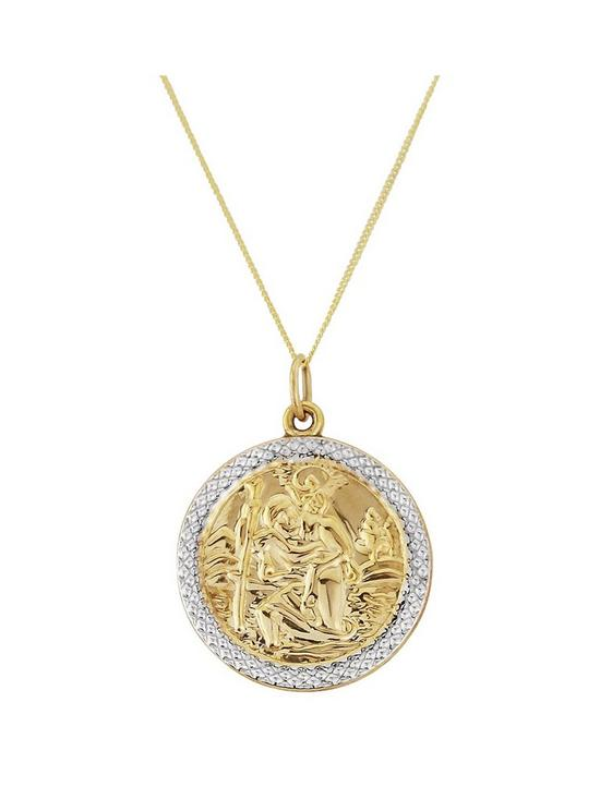 Love gold mens 9ct gold saint christopher pendant very mozeypictures Images