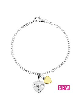 love-silver-sterling-silver-and-yellow-rhodium-cz-set-heart-charm-bracelet