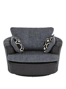 bardot-fabric-and-faux-snakeskin-swivel-chair