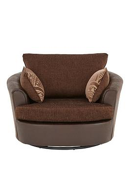 gatsby-fabric-and-faux-snakeskin-swivel-chair