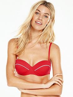 v-by-very-underwired-textured-bikini-top-rednbsp