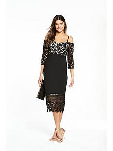 v-by-very-lace-bardot-midi-dress