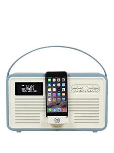 view-quest-retro-mk-ii-dab-bluetooth-wireless-radio-blue