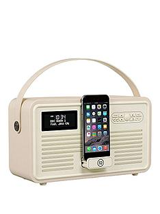 View Quest Retro MK II DAB+ Bluetooth Wireless Radio - Cream