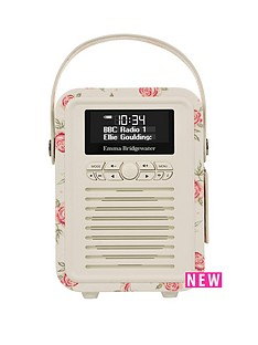 view-quest-retro-mini-dab-bluetooth-wireless-radio-emma-bridgewater-rose-and-bee