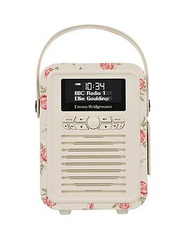 Image of View Quest Retro Mini Dab+ Bluetooth Wireless Radio - Emma Bridgewater Rose And Bee