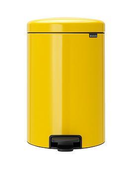 brabantia-newicon-20-litre-pedal-bin-ndash-daisy-yellow
