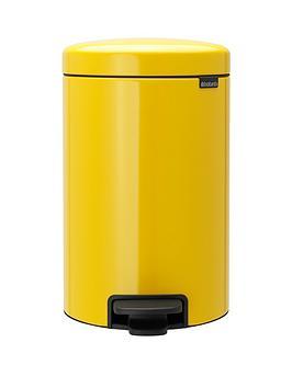 brabantia-newicon-12-litre-pedal-bin-ndash-daisy-yellow