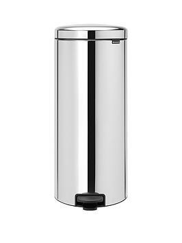 brabantia-newicon-30-litre-pedal-bin-ndash-stainless-steel