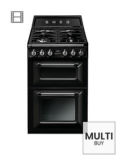 smeg-tr62blnbspvictorianbsp60cm-2-cavity-dual-fuel-mini-range-cooker-black