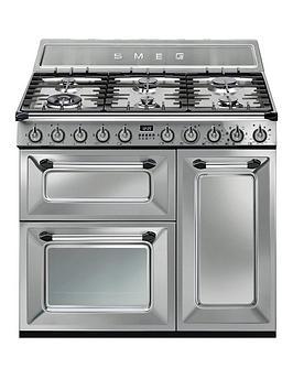 smeg-tr93xnbspvictorianbsp90cm-3-cavity-dual-fuel-range-cooker