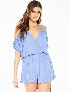 v-by-very-frill-cold-shoulder-beach-playsuit