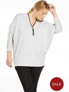 ax-paris-curve-zip-front-tunic-grey