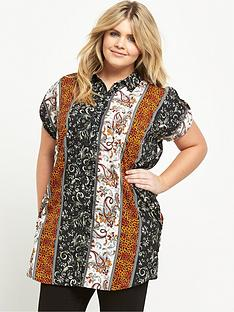 ax-paris-curve-double-pocket-printed-shirt