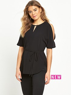 ax-paris-tie-waist-blouse-black