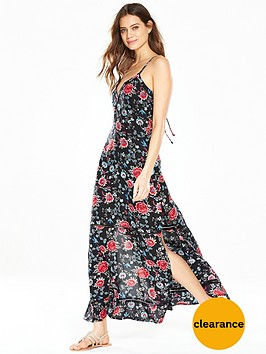 v-by-very-ladder-detail-beach-maxi-dress