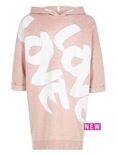 river-island-girls-pink-hooded-love-sweater-dress