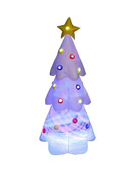 6ftnbspwhite-led-light-up-disco-tree-indooroutdoor-christmas-decoration