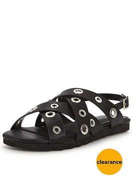 v-by-very-azaelia-eyelet-detail-flat-sandal--black
