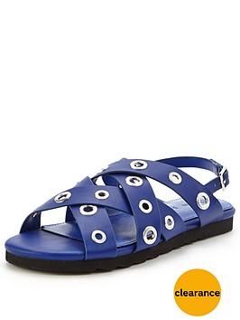 v-by-very-azaelia-eyelet-detail-flat-sandal-cobalt