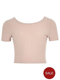 river-island-girls-blush-pink-ribbed-crop-top