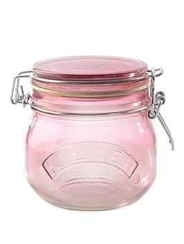 kilner-kilner-3-piece-05-litre-clip-jar-set-pink