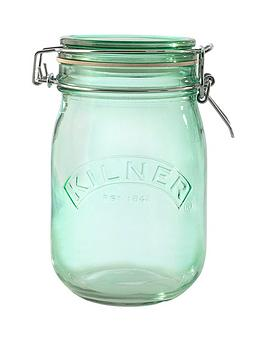 kilner-kilner-3-piece-1-litre-clip-jar-set-green