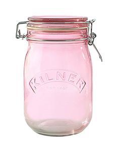 kilner-kilner-3-piece-1-litre-clip-jar-set-pink