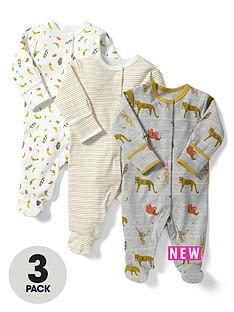 mamas-papas-baby-boys-animal-sleepsuits-3-pack