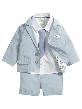 mamas-papas-baby-boys-blazer-shorts-shirt-and-tie-set-4-piece