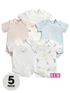 mamas-papas-baby-girls-birds-bodysuits-5-pack