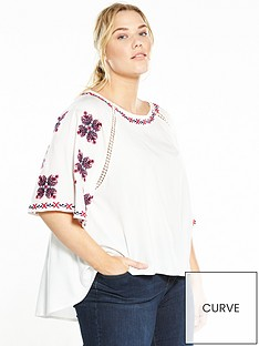 v-by-very-curve-curve-embroidered-sleeve-top-white