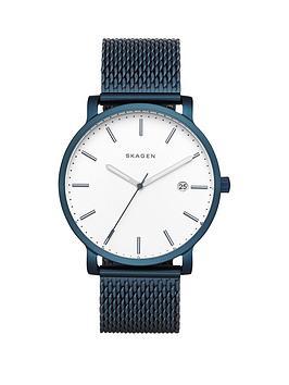 skagen-hagen-white-dial-blue-mesh-stainless-steel-mens-watch