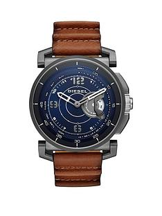 diesel-on-dzt1003-blue-dial-tan-strap-smart-watch