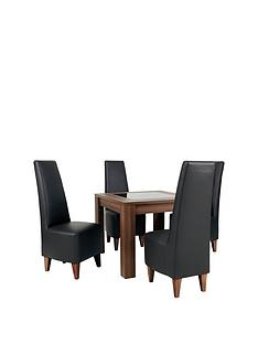 new-avery-square-90x90cm-dining-table-amp-4-new-manhattan-chairs-buy-and-save