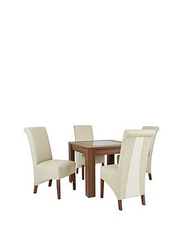 avery-square-90-x-90-cm-dining-table-4-sienna-leather-amp-suede-chairs-arrives-in-one-delivery