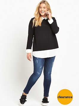 v-by-very-curve-2-in-1-mono-blouse