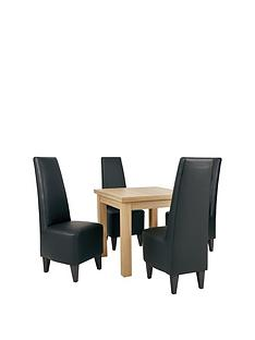 new-square-to-rectangle-extending-dining-table-amp-4-new-manhattan-chairs-buy-and-save