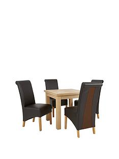square-to-rectangle-80-160-cm-extending-dining-table-4-sienna-chairs