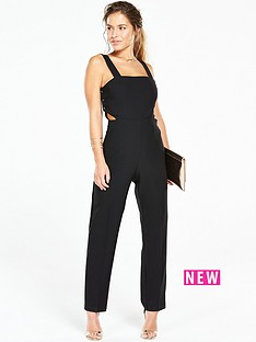 v-by-very-petite-petite-button-side-tailored-jumpsuit-black