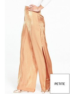 v-by-very-petite-petite-wide-leg-metallicnbsptrouser-nude