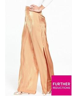 v-by-very-petite-petite-wide-leg-metallicnbsptrouser-nude
