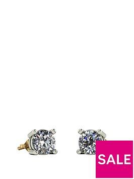 moissanite-9ct-gold-1-caratnbsp5mm-earrings