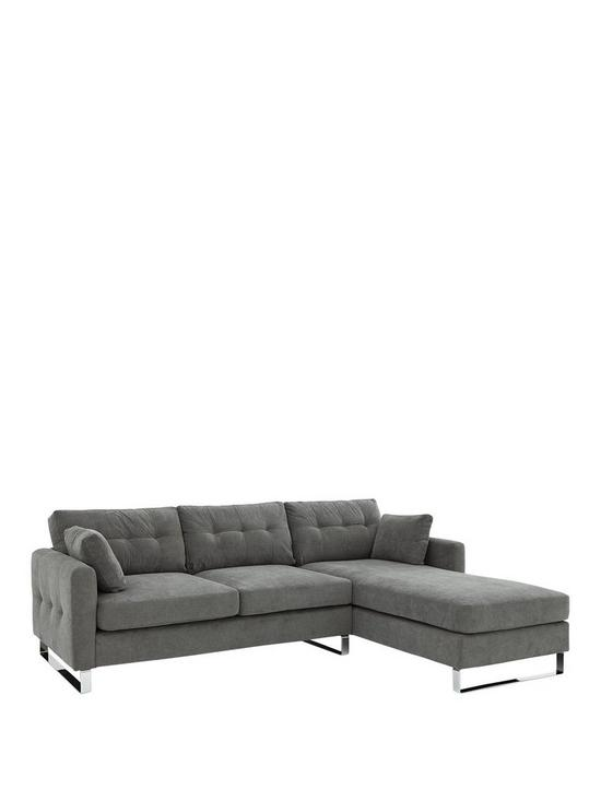 Sphinx 3 Seater Right Hand Fabric Corner Chaise Sofa