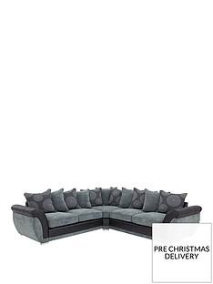 danube-fabric-and-faux-snakeskin-corner-group-sofa