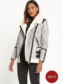 river-island-crackle-leather-look-aviator-coat