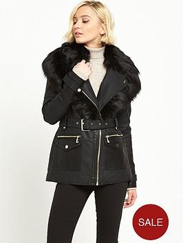 river-island-punbspbelted-jacket-black
