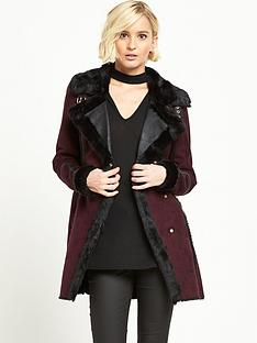 river-island-suedette-coat-oxblood