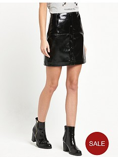 river-island-patent-button-down-mini-skirt